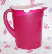 Tupperware Jumbo 1 Gallon Impressions Fridge Pitcher Pink Fuchsia Kiss NEW