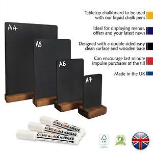Table top chalk board, Menu board, Chalkboards ,Sizes  A4- A5- A6 -A7
