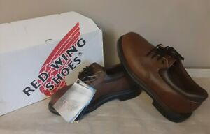 New Red Wing Mens Oxford Shoes Sz 8 E2 Brown Leather Work Shoes 105 EH Supersole