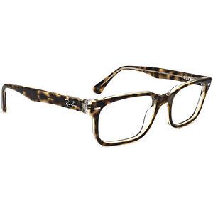 Ray-Ban Eyeglasses RB 5286 5082 Tortoise on Clear Rectangular Frame 51[]18 135