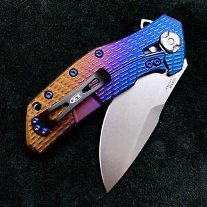 Zero Tolerance ZT0308 Flipper 20cv steel FolderZT 0308 Wyo Sunrise Ano NEW