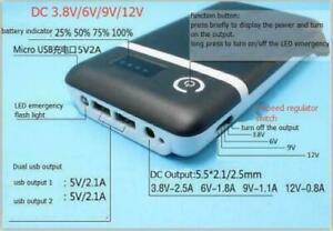 USB Power Bank Case 3.6V 5V 6V 9V 12V Adjustable 18650 Battery Charger Box 1pcs