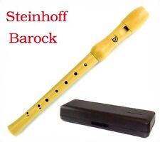 Blockflöte C-Sopran Barock Griffweise Natur Holz +Etui Neue Steinhoff W8-1