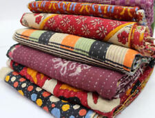 Kantha Quilt Indian Vintage Reversible Throw Handmade Blanket Wholesale Lot 1 pc