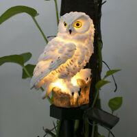 Novelty Solar Garden Lights Owl Ornament Bird Outdoor LED Decor Sculpture Lawn