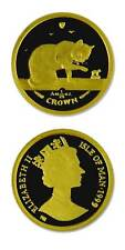 Isle of Man Cat Coins British Blue Cat 1999 Proof Gold 1/25 Ounce Crown