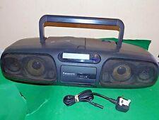 PANASONIC STEREO CD RADIO Portable CASSETTE BOOMBOX XBS Black RX-DS45 WOW LOUD!