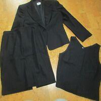 Giorgio Armani Collezioni 3 Pc Women's Suit Sz 10 Jacket & Vest Sz 14 Skirt