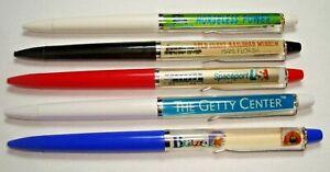 Lot of 5 vintage floating floaty pens by Eskesen Denmark #2