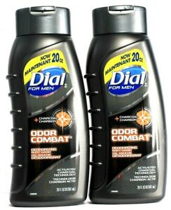 2 Dial For Men  Odor Combat Activated Charcoal Technology Clean Rinsing 20 oz