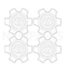 For Toyota 4Runner 06-09 Set of 4 Ornament Wheel Center Caps OES 42603-35830