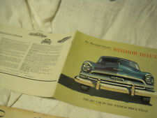 1954 CHRYSLER WINDSOR DELUXE ORIGINAL CAR SALES BROCHURE