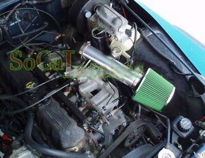 Black Green Long Air Intake Kit  For 1997-2004 Jeep Cherokee Grand 4.0L I6