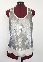 Sparkle & Fade Women's Dressy Tank Top Sleeveless Size Medium Sequins