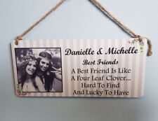 Personalised Friendship Plaque - Best Friends Hanging Metal Sign Gift Friend