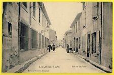 cpa 11 - LÉZIGNAN CORBIERES en 1900 (Aude) Rue de la POSTE Animés Ed. BOISSIER
