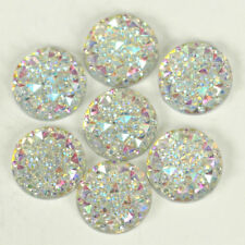 100pcs 14mm Crystal AB Colors Round Sew On Rhinestones Flatback Resin Sewing