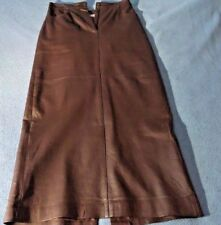 Newport News Ladies Easy Style Brown Leather Skirt Size:8