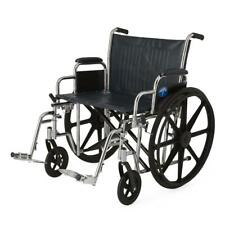 """Medline MDS806900 Excel Extra-Wide 24"""" Bariatric Wheelchair"""