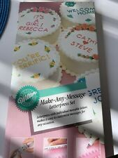 Wilton Make Any Message Letterpress Set All Letters Complete