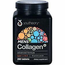 Youtheory Mens Collagen Advanced Formula Type 1,2 & 3 Amino Acids - 290 Tablets