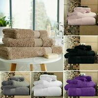 3x Pcs Set of 100% Super Soft Cotton Face, Hand & Bath Bathroom Towel Bale Set