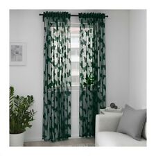 NEW NÄSSELFJÄRIL Lace curtains, 1 pair, green, 57x98