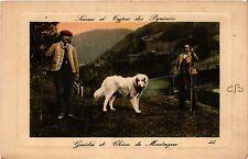 CPA Scénes et types des Pyrénées Guides et Chien de Montagne (415630)