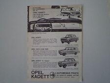 advertising Pubblicità 1963 OPEL KADETT / L /CARAVAN