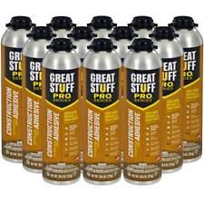 Dow Great Stuff Pro Wall And Floor Adhesive 265 Oz Gun Foam Case Of 12