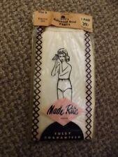 Vtg 1950s NEW Sealed White Rayon Tricot Hollywood Mushroom Brief Panties Girls 8