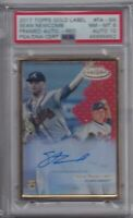 SEAN NEWCOMB RC 2017 Topps Gold Label Framed Red Graded PSA 8 NM-MT DNA Auto 10