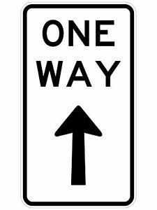 Regulatory Road Signs -  ONE WAY SIGN (REGULATORY)
