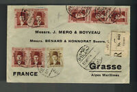 1937 Cairo Egypt Cover to Grasse France