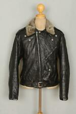 Vtg 50s MONTGOMERY WARD 'Two Star' Leather Motorcycle Jacket Large