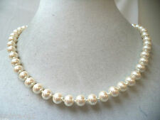 VINTAGE MINT NOS WAREHOUSE FAUX PEARL BEADED SIGNED MONET NECKLACE!!! WGA349