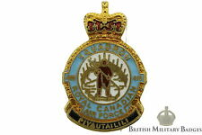 Queens Crown: Royal Canadian Air Force 418 Squadron Unit RCAF Canada Lapel Badge