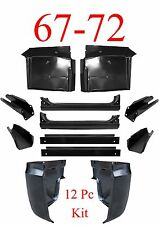 67 72 Chevy 12Pc Cab Repair Kit, X-Rocker, Cab Corner, Inner, Floor & Supports