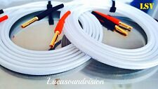 NEW 2 x 1m (A Pair) QED SILVER ANNIVERSARY-XT AUDIO SPEAKER CABLES Terminated