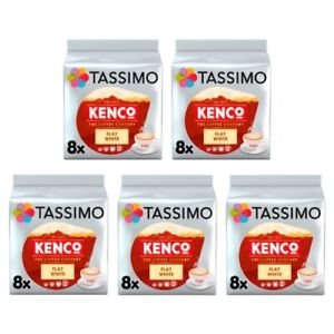 Tassimo Kenco Flat White Pack of 5 (Total of 40 Coffee Pods)
