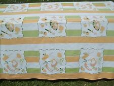 Vintage Vegetable Print Table Cloth Orange Green Pink Kitchen Designs TC23