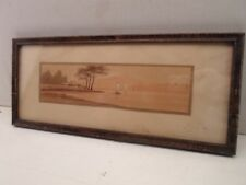 antique faux grained picture frame,Japanese print,  # 1161