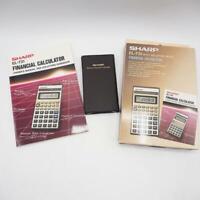Sharp EL-731 Financial Calculator w/ Box & Owner's Manual