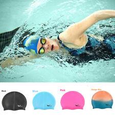 Unisex Swimming Cap Waterproof Silicone Swim Pool Hat Cap For Adult Men Women US