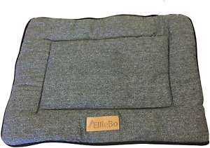 Ellie-Bo Reversible Tweed and Black Faux Fur Mat Bed for Small 24 inch Dog Puppy