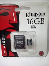 KINGSTON MicroSd SDHC 16 GB +Adattatore SD SAMSUNG GALAXY NOTE 10.1 2014 P605
