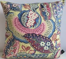 Liberty Arts Patricia Pink Tansy Floral & Blue Velvet Fabric Cushion Cover