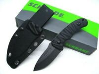 Schrade SCHF57 Tactical Black Full Tang Drop Point Fixed Blade Knife + Sheath