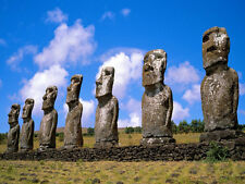 EASTER ISLAND STATUES - PREMIUM QUALITY MOUSEMAT/PAD - FAMOUS LANDMARKS SERIES