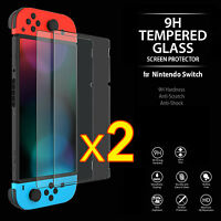 2X 9H ULTRA CLEAR TEMPER GLASS SCREEN PROTECTOR FOR Nintendo Switch